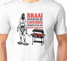 BRAAI SOUTH AFRICAN CAVE MAN Unisex T-Shirt