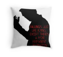 Falling is like Flying Throw Pillow
