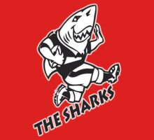 NATAL SHARKS FOR DARK SHIRTS SOUTH AFRICA RUGBY SUPER RUGBY One Piece - Short Sleeve