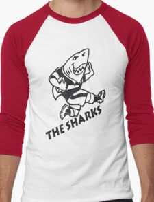 NATAL SHARKS FOR DARK SHIRTS SOUTH AFRICA RUGBY SUPER RUGBY Men's Baseball ¾ T-Shirt