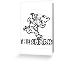 NATAL SHARKS FOR DARK SHIRTS SOUTH AFRICA RUGBY SUPER RUGBY  Greeting Card