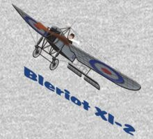 Royal Flying Corps Bleriot XI-2 T-shirt by Dennis Melling