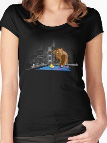 chaingun-teddy has leisure Women's Fitted Scoop T-Shirt