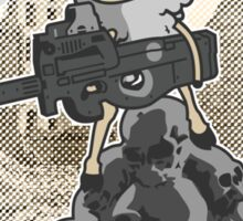 sheep with a machine gun Sticker