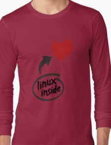 Linux inside my hearth Long Sleeve T-Shirt