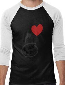 Linux inside my hearth Men's Baseball ¾ T-Shirt