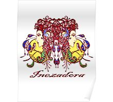 Stained Glass Inezadora Medallion Poster