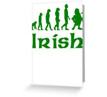 Green Irish Leprechaun Evolution Greeting Card