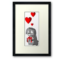 The Valentine Bunny Framed Print