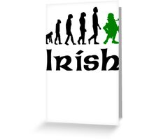 Irish Leprechaun Evolution Greeting Card