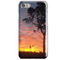 Farm sunset iPhone Case/Skin