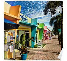 Colorful Storefronts Poster