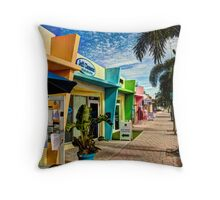 Colorful Storefronts Throw Pillow