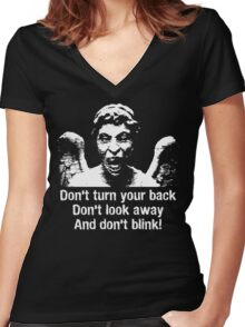 Weeping Angel, Don't Blink... Women's Fitted V-Neck T-Shirt