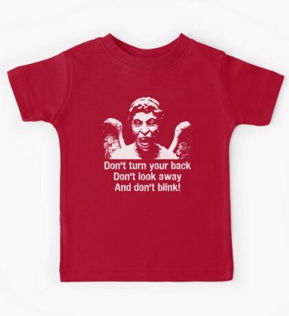 Weeping Angel, Don't Blink... Kids Tee