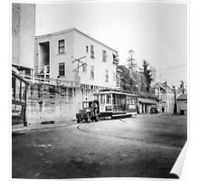 Vintage Streetcar Trolley 1930 Poster