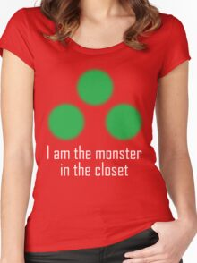 I am the monster in the closet ~ Sam Fisher Women's Fitted Scoop T-Shirt