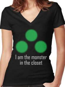 I am the monster in the closet ~ Sam Fisher Women's Fitted V-Neck T-Shirt