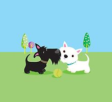 Best Friends – Scottie & Westie by BonniePortraits