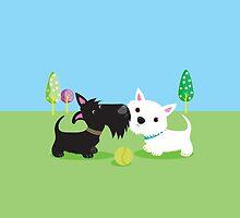 Best Friends – Scottie & Westie by BonniePortraits
