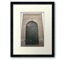 Steel Church Door Framed Print