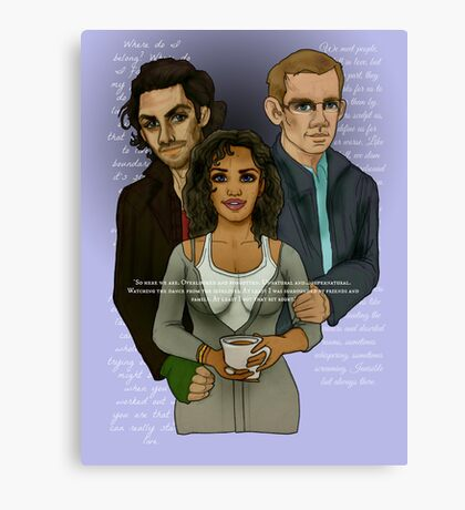 The Vampire, The Ghost and The Werewolf Canvas Print