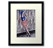 Captain America Latex Queen Framed Print