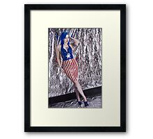 Captain America Latex Queen Framed Print