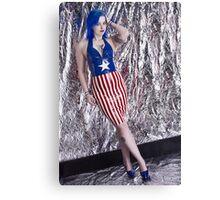Captain America Latex Queen Canvas Print