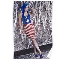Captain America Latex Queen Poster