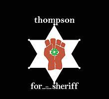 Hunter S Thompson, Gonzo Fist  by RocketmanTees