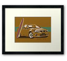 HOLDEN UTE SURF TRUCK Framed Print