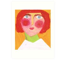 Redhead  Art Print