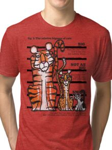Bigness of cats top Tri-blend T-Shirt