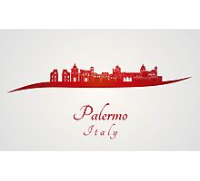 Palermo skyline in red Photographic Print