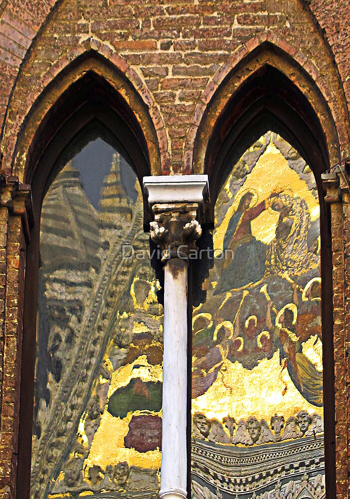 Siena cathedral reflection 2, Siena, Italy by buttonpresser