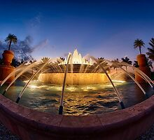 Fiddler's Creek Fountain at Twilight by ImageFiddler