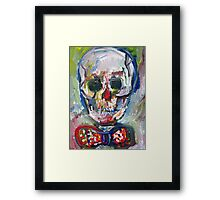 SKULL with BOW TIE Framed Print
