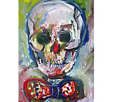 SKULL with BOW TIE Photographic Print