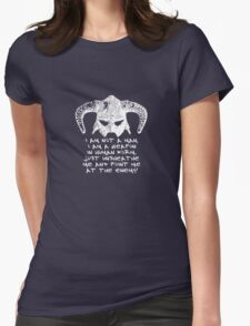 You are the Dragonborn. Womens Fitted T-Shirt