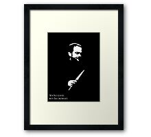 But I'm Crowley.  Framed Print