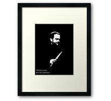 But I'm Crowley.  Framed Print
