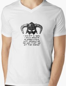 You are the Dragonborn. Mens V-Neck T-Shirt