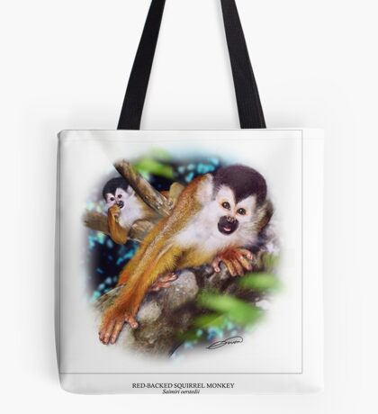 RED-BACKED SQUIRREL MONKEY 2 Tote Bag