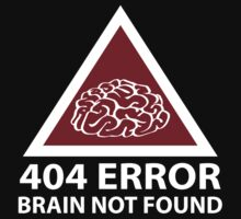 404 Error Brain Not Found by BrightDesign