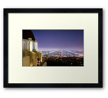 Griffith Observatory Los Angeles View Framed Print