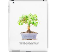 everything grows with love iPad Case/Skin
