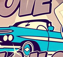 Pinup-Girls: I love girls ´n cars Sticker