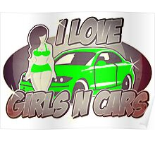 Pinup-Girls: I love girls ´n cars Poster