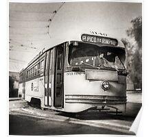 Vintage Streetcar Trolley 2106 Poster